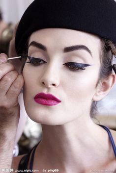 . @Julie Forrest Forrest Forrest Fuhrmann - flapperhad makeup?