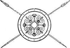 Image result for athena's shield drawing