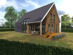 Modern landelijke woning uitgevoerd in HSB