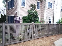 Grey Wood Lattice Fencing