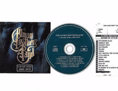 ALLMAN BROTHERS Greatest Hits Cd Compact Disc W/ JukeBox Title Page Free S/H USA