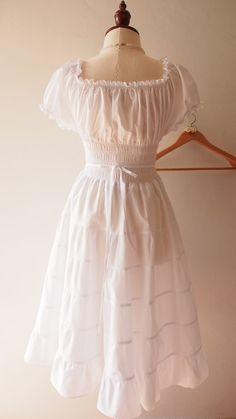 Vintage Inspired Dresses, Vintage Style Dresses, Dress Vintage, Mint Bridesmaid Dresses, Vintage Mode, Shower Dresses, Rustic Wedding Dresses, Tiered Dress, Boho Dress