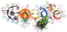Doodle 4 Google Winner 2012. The doodle on the Google India home page on Children's Day has been created by Arun Kumar Yadav, a class 9 KV student from Chandigarh. The Doodle 4 Google winning entry featured on the Google India home page on November 14 is titled 'India - A Prism of Multiplicity'.  Google 4 Doodle is an annual competition in which Google invites students from classes 1 to 10 to share their creativity by doodling on the Google logo.