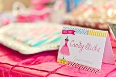 Dress-Up theme party by Double The Fun Parties - printable buffet cards from Chickabug