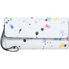 Desigual Wallet Reversible New Spla ($76) ❤ liked on Polyvore featuring bags, wallets, bags & luggage purses, reversible bag, snap closure wallet, desigual bags, zipper wallet and zip bag