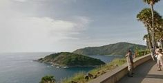 click, download and workout using Google street view in Phuket, Thailand along Andaman Sea