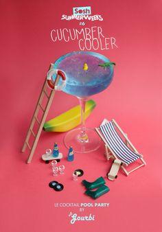 soshfr:  SOSH SUMMER WEEK #6 COCKTAIL POOL PARTY Jus de citron vert + concombre + Perrier ou limonade —> le tout au blinder, on filtre et on déguste! #ENJOY