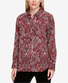 Tommy Hilfiger Cotton High-Low Shirt, Created for Macy's