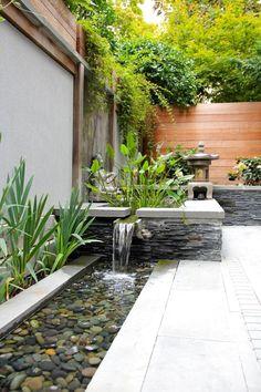 35 Beautiful Mini Zen Garden Design Ideas – Home Decoration Landscaping Costs, Backyard Landscaping, Landscaping Ideas, Backyard Patio, Backyard Ponds, Patio Wall, Outdoor Patios, Outdoor Spaces, Outdoor Kitchens