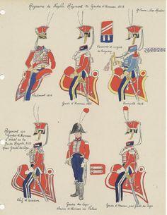 Royaume de Naples Régiment de gardes d' honneur 1813