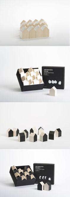 Archiblocks is a construction set of building blocks created by Cinqpoints, whose mission is to spread contemporary architecture to a larger audience. Kids Wood, Contemporary Architecture, Contemporary Houses, Pavilion Architecture, Organic Architecture, Residential Architecture, Montessori Toys, Deco Design, Designer Toys