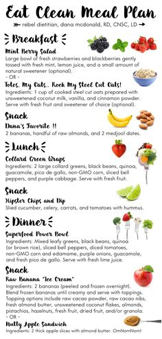 Eat Clean Meal Plan | rebelDIETITIAN.US