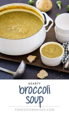This hearty vegan broccoli soup not only tastes great, but it's easy to make!