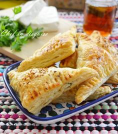 Cheese and herb turnovers