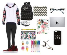 """Casual school day"" by amylovesptx ❤ liked on Polyvore featuring Topshop, Soda, Vans, Billabong, Bando, Forever 21 and Zodaca"