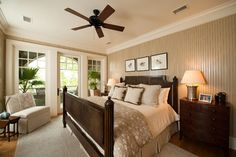 Kiawah Island Preserve Riverfront - traditional - bedroom - charleston - Island Architects  GOOD IF USE FLORIDA STYLE