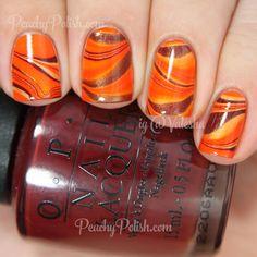 OPI Watermarble Nail Art | Peachy Polish