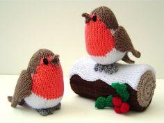 Фото: Новогодний декор и елочные игрушки, вязанные из ниток (Фото)