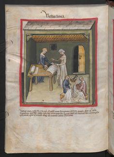 Folio 105v (page 214). Tacuinum sanitatis, Codex Vindobonensis, series nova 2644. North Italy, probably Verona, 1380-1399.