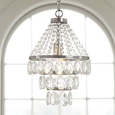 Sparkle Drop Pendant from PBteen. Saved to Light Up A Room. Shop more products from PBteen on Wanelo. Round Chandelier, Chandelier Bedroom, Beaded Chandelier, Chandelier Pendant Lights, Chandelier Ideas, Pendant Lamp, Ceiling Light Fixtures, Ceiling Lights, Glittering Lights