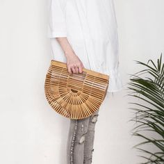 Ark Bamboo Clutch in Small