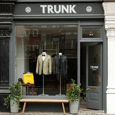 trunk clothiers of marylebone~my friend has a flat around the corner! Shop Facade, Le Shop, Store Windows, Retail Interior, Shop Fronts, Shop Around, Retail Space, Retail Shop, Commercial Design