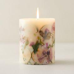 Pressed Botanicals Candle, Lemon + Lychee - Terrain