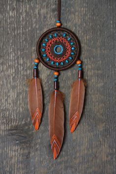 Small Dreamcatcher/ Brown Dream Catcher/Car dream catcher/ Car