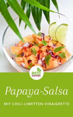 Und hier ist er: Ein Gruß aus den Tropen auf Ihrem Teller! Meine Papaya-Salsa mit Ingwer, Limette und Chili ist nicht nur super gesund, sondern auch herrlich köstlich und erfrischend im Geschmack. Ein bessere Köstlichkeit gibt es nicht, um in den Frühling zu starten. #papayasalsa #papaya #ingwer #limette #chili #rezept #salsa #vegan #vegetarisch