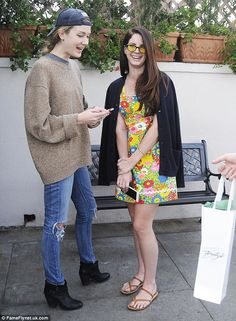 Sister sister: Lana Del Rey and her younger sister Caroline  dined out in Beverly Hills on Thursday