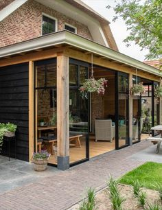 Back Garden Design, Patio Design, House Design, Pergola Patio, Backyard Patio, Backyard Landscaping, Garden Room Extensions, House Extensions, Outdoor Rooms