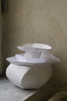 Paper models for Lightscape by Ruth Gurvich, 2008