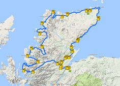 - An Epic Itinerary For Scotland's North Coast - Destination Addict North Coast 500 Scotland, Scotland Map, England And Scotland, Scotland Travel, Scotland Tourism, Scotland Castles, Edinburgh Scotland, Camping Scotland, Scotland Road Trip