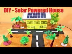 Solar Powered House Model for School exhibition project - DIY School Project Working and Non Working Models for Science Exhibitions or Science Fair Science Exhibition Projects, Science Project Models, School Exhibition, Exhibition Models, Science Projects, Power School, School Fun, Fair Projects, School Projects