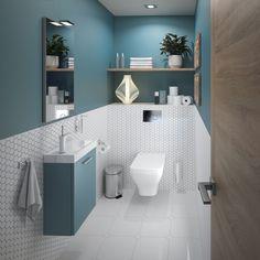 Small Bathroom Interior, Bathroom Design Luxury, Modern Bathroom Design, Toilet Room Decor, Small Toilet Room, Bathroom Accent Wall, Downstairs Bathroom, Home Decor Furniture, Bathroom Furniture