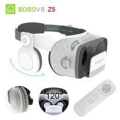 BOBOVR Z5 Daydream Stereo 3D Glasses VR Cardboard Helmet Virtual Reality Phone Headset Box for 4.7-6.2'+ Gyro VR Controller #Affiliate