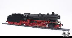 It is in fact a Baureihe 41-241 Polarstern steam locomotive operated by Deutsche Reichsbahn, and, if we're being honest, we only know that from the builder's description. But we are a c…