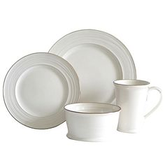 Baum Tuscany 16-Piece Dinnerware Set has a rustic pattern with a warm translucent glaze. It naturally highlights the lines of the plates and the hand thrown nature of the bowls and mugs included in this set. This is perfect for your everyday dining.
