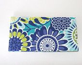 Fabric Checkbook Cover or Coupon Holder With A Pen Loop