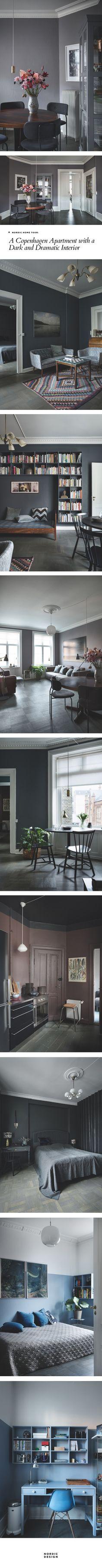 Nordic Home Tour: A Copenhagen apartment with a dark and dramatic interior | NORDIC DESIGN