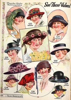 Sears, Roebuck and Company, 1924. These are what our grandmothers and great-grandmothers wore to church, to work and even to the grocery store.