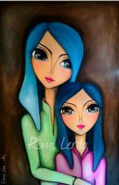 Kunstjournal Inspiration, Art Journal Inspiration, Abstract Face Art, Whimsical Art, Beautiful Paintings, Doodle Art, Art Girl, Watercolor Art, Canvas Wall Art