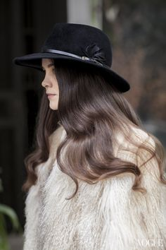 hat from Eugenia Kim.