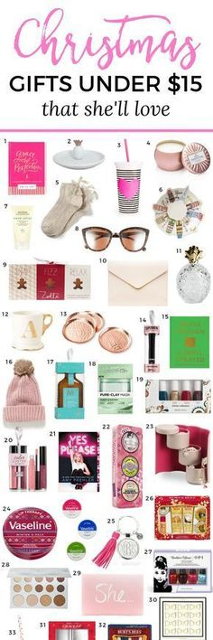 The best Christmas gift ideas for women under $15! You won't want to miss this adorable Christmas gift guide for women created by Florida beauty and fashion blogger Ashley Brooke Nicholas. She's guaranteed to love every affordable Christmas gift idea on this list!