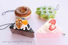 Kawaii Super Cute Donut Cake and Waffle Squishy by CharmsByIzzy, £6.00