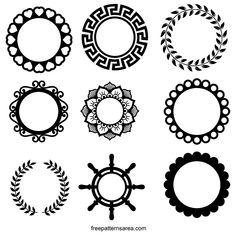 Free SVG Files for Silhouette Monogram Cricut Monogram, Free Monogram, Monogram Decal, Monogram Frame, Monogram Fonts, Circle Borders, Silhouette Frames, Flower Doodles, Cricut Creations