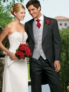 Red And Black Wedding Suit Ideas For Men