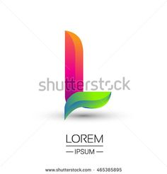 L letter colorful logo, Vector design template elements for your application or…