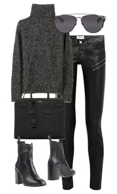 """""""Untitled #2720"""" by angieswardrobe ❤ liked on Polyvore featuring Yves Saint Laurent, Isabel Marant, Eqüitare and Christian Dior"""