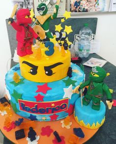Lego Ninjago VS power ranger cake-impossible